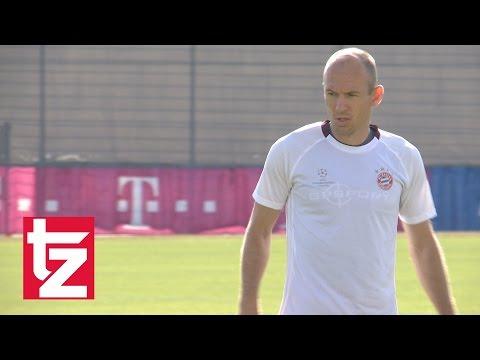 FC Bayern vs. FK Rostov: Abschlusstraining mit Arjen Robben und Jerome Boateng (Champions League)