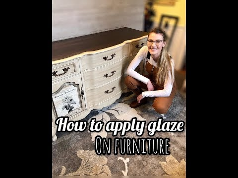 How To Apply Glaze On Furniture