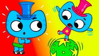 Котики вперёд!  Катя - Котя - Степ - Серия 43 - развивающие мультфильмы для детей