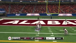 NCAA Football 2014 Demo - Alabama Crimson Tide vs Virginia Tech Hokies