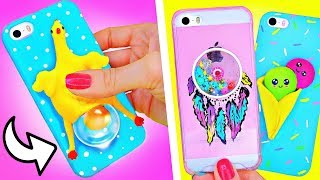 DIY VIRAL SQUISHY PHONE CASES ! AMAZING DIY PHONE CASES! CASE ANTISTRESS 3D