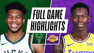 Game Recap: Bucks 112, Lakers 97