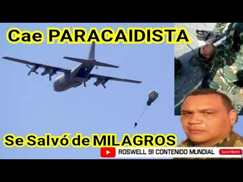 VENEZUELA: CAE PARACAIDISTA APARATOSAMENTE EN PRÁCTICAS MILITARES EN MARACAY