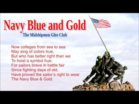 Navy Blue and Gold with lyrics