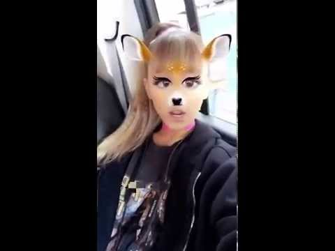 Ariana Grande Funny Snapchat Video On Glasses YouTube - 27 creative snapchats will ever see