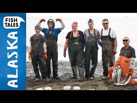 Sustainable Sockeye SALMON Fishing in Ekuk Alaska | Bart van Olphen