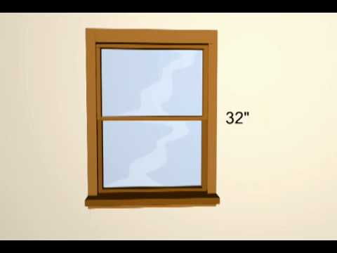 how to measure for window blinds youtube. Black Bedroom Furniture Sets. Home Design Ideas