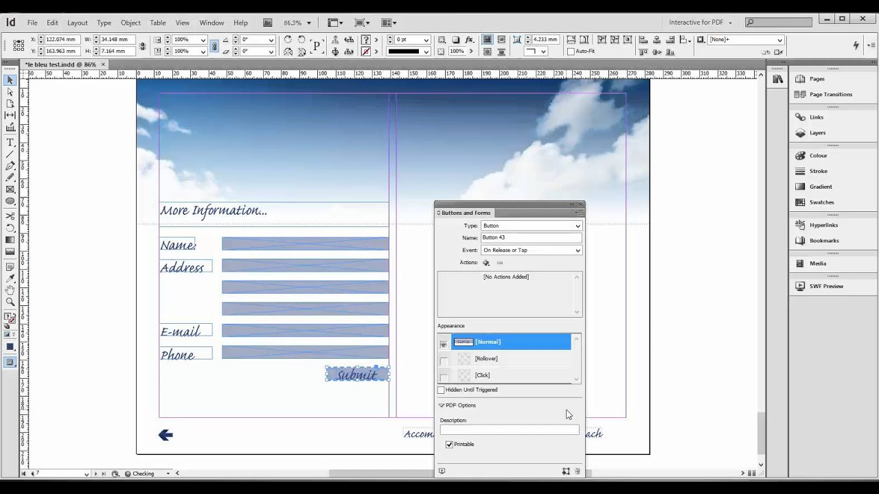 Creating PDF forms with InDesign - YouTube