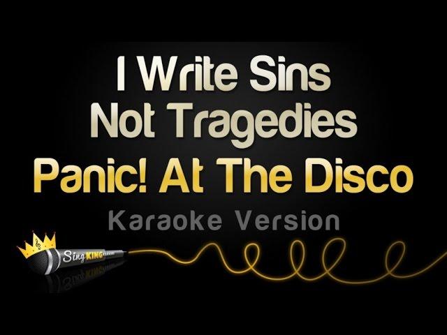 Panic! At The Disco - I Write Sins Not Tragedies (Karaoke Version ...
