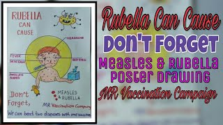 Rubella Can Cause ( poster Drawing)/ Don't Forget/ MR Vaccination Campaign.
