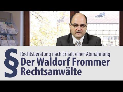 Nach Erhalt Waldorf Frommer Abmahnung Hilfe Anwalt Youtube