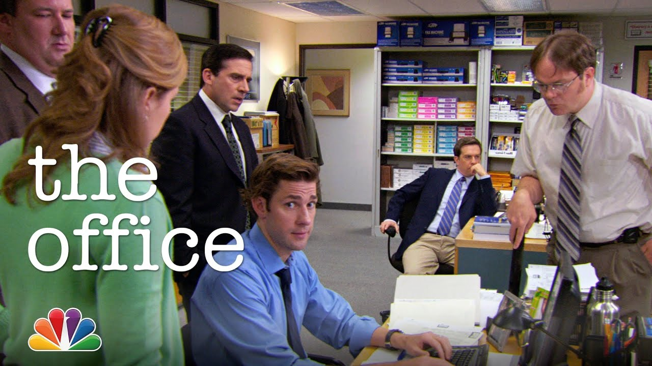 The Office Tries To Remember A Password The Office Youtube