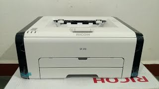 Ricoh SP 210 printer review and unboxing setup in hindi