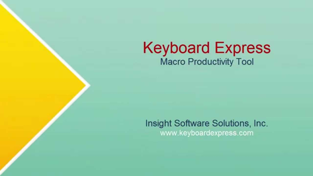 Keyboard Express – Windows automation software for business