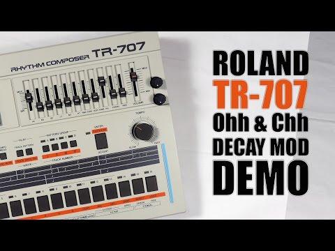 Roland TR-707 decay MOD demo
