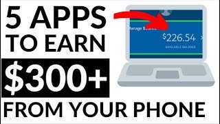 5 BEST Apps To Make Money From Your Phone NOW! (2019)