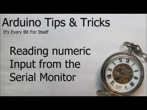 Arduino:  Reading Number Input From The Serial Monitor