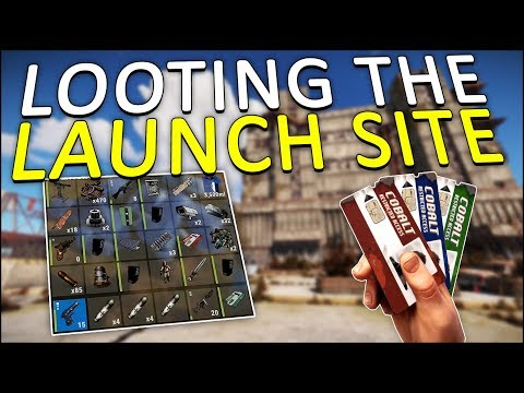 LOOTING the LAUNCH SITE with my KEYCARDS! - Rust Solo #3 thumbnail