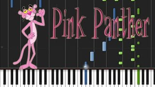 The Pink Panther - Theme Song [Synthesia Tutorial]