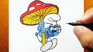 How To Draw SMURFS , Como Desenhar GÊNIO