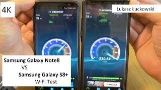 Samsung Galaxy Note8 vs Samsung Galaxy S8+ | Prędkość WiFi, który lepszy?