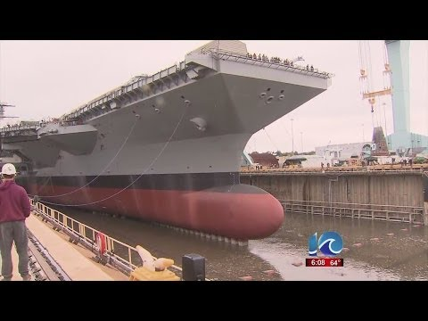 Art Kohn reports on Gerald R. Ford dry dock flooded
