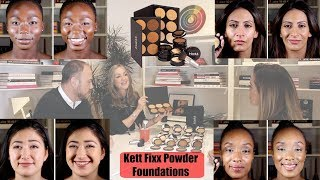 NEW Kett Fixx Powder Foundations | Interview & Demo on Light, Medium & Deep Skin Tones