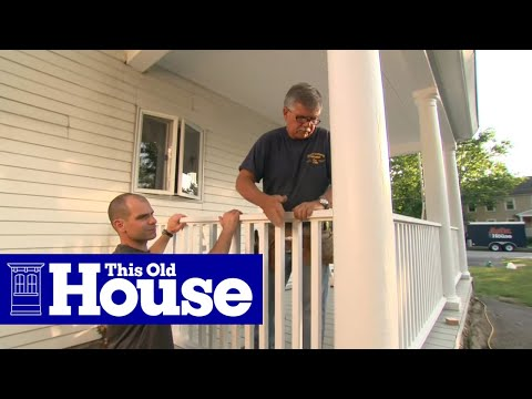 How To Build A Porch Rail - Youtube