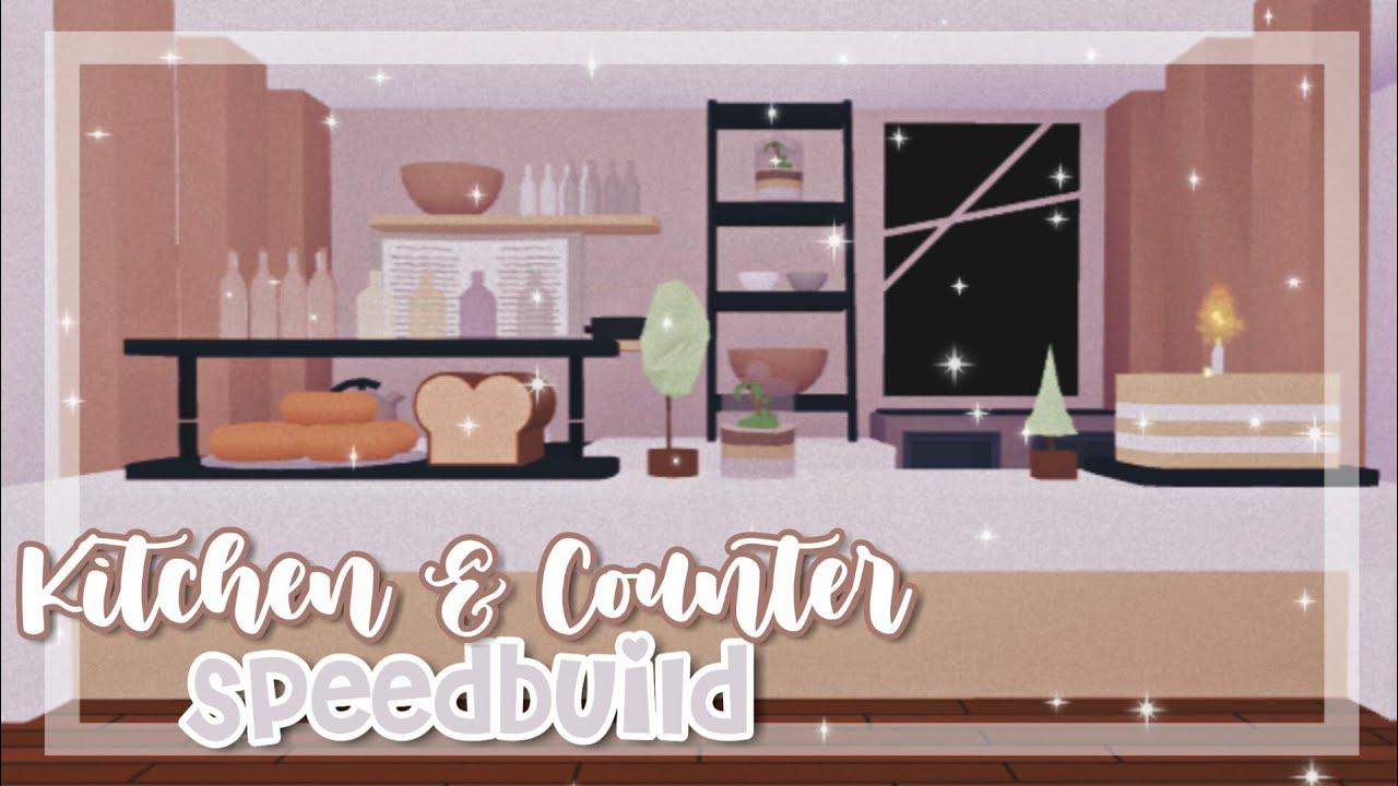 Kitchen Counter Speedbuild Adopt Me Adopt Me Speedbuild Youtube