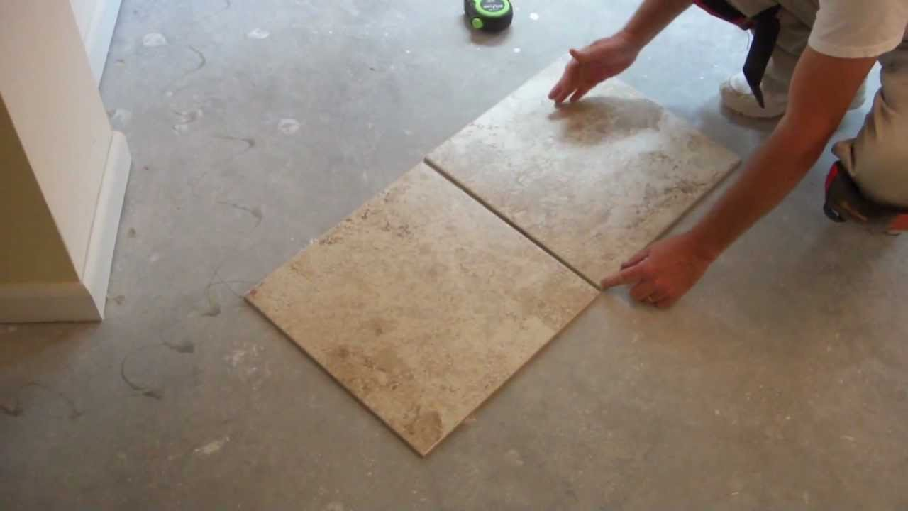 How To Tile And Layout Floor Tile Part 3 Of 9 Youtube