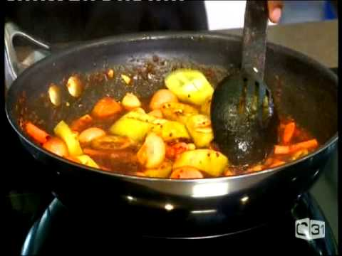 Chef happyK preparing Sri Lankan Malay Pickle @ Culinary Corner CH 31