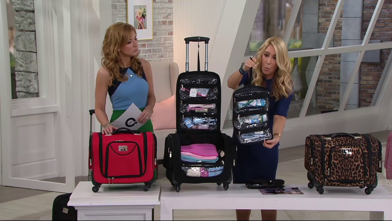 Weekender Bag With Snap In Toiletry Case By Lori Greiner On Qvc