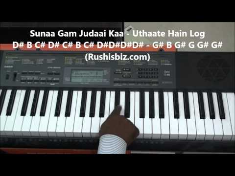 Humein Tumse Pyar Kitna Piano Notes - Tutorials