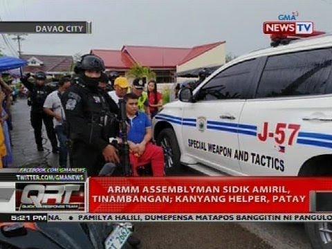 ARMM assemblyman Sidik Amiril, tinambangan; kanyang helper, patay