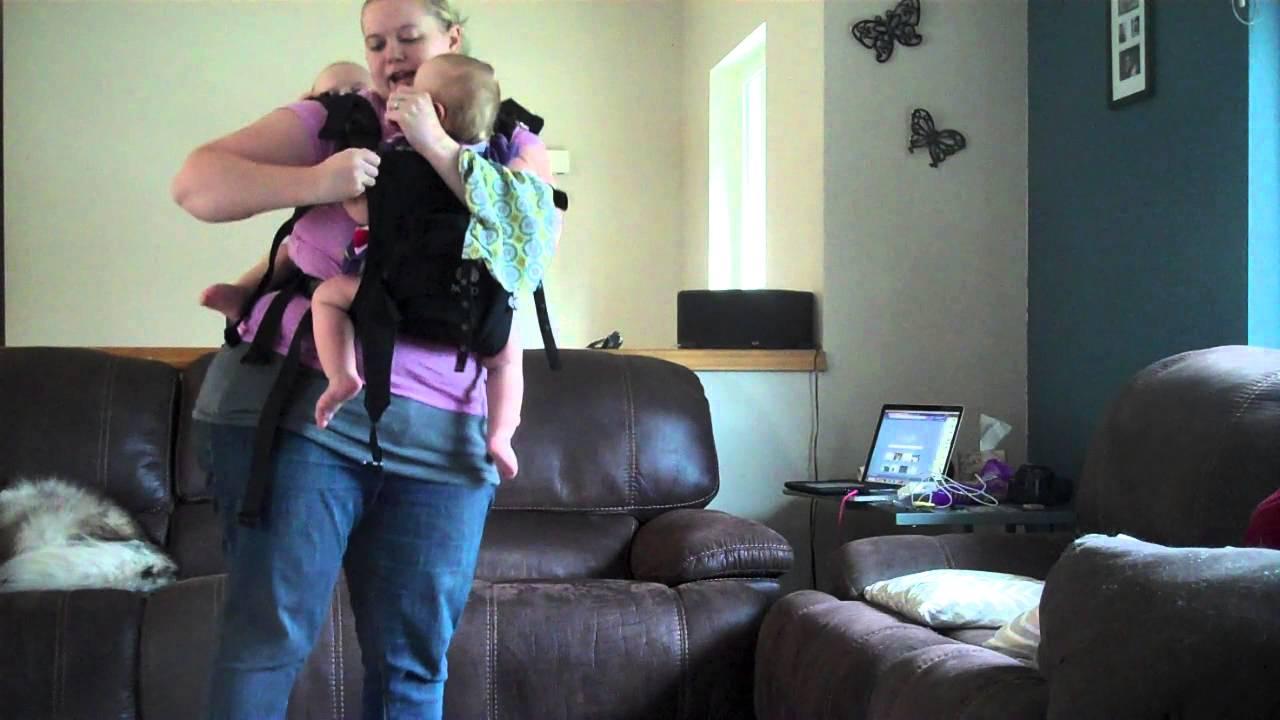 2b3108ed658 Tandem Babywearing - TwinGo Carrier (prototype) - YouTube