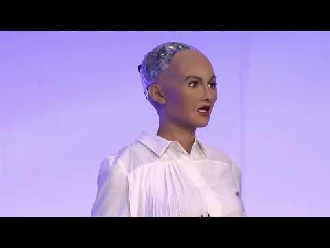 Sophia the Robot on the London Tech Week Headliners Stage @ TechXLR8
