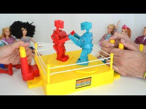 TotoyKids Jugando Batalla de Robots Rock 'em Sock 'em Niños contra Niñas!!! Quién ganará???