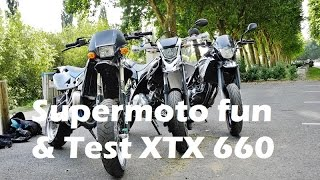 supermoto fun test yamaha xtx 660 ft thotho90 et biketodream
