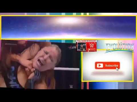 WWE Evolution 28 October 2018   Ronda Rousey Vs Nikki Bella   Full Match