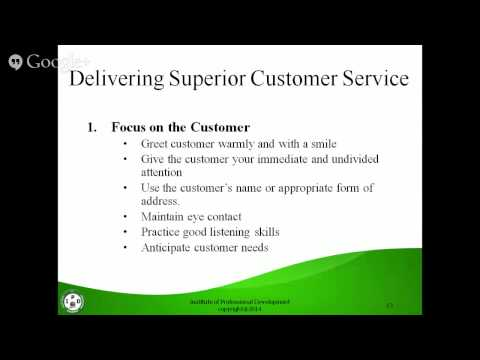 The Secret to Superior Customer Service Webinar