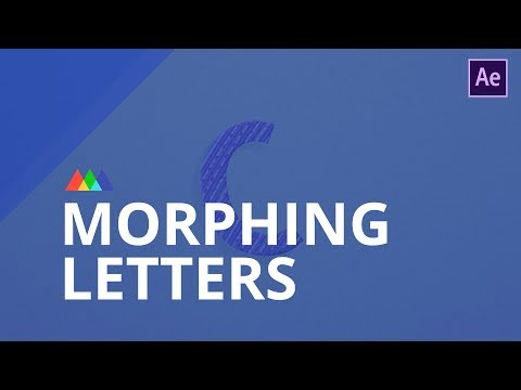 Morphing Letters in After Effects