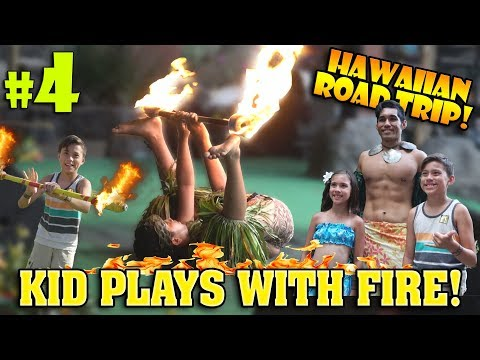 HAWAIIAN ROAD TRIP!!!  Playing with Fire at the Polynesian Cultural Center!
