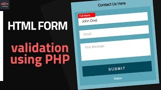 How To Add Form Validation using PHP | GTCoding