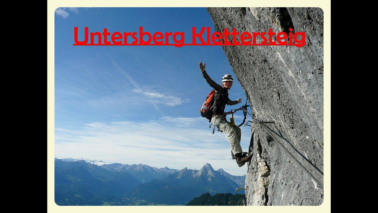 Klettersteig Untersberg : Untersberg klettersteig berchtesgadener hochthronsteig