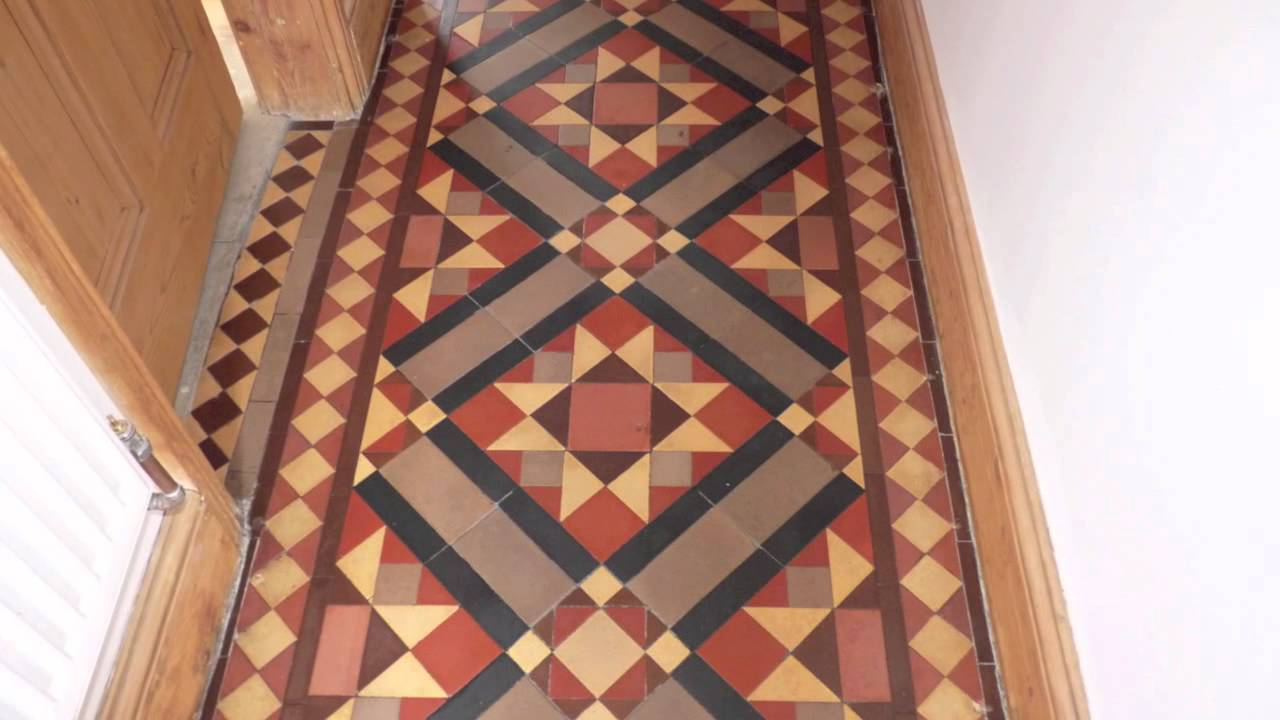 Victorian Floor Tile Cleaning & Sealing Stoke on Trent - YouTube