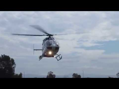 Air Ambulance lands on Palo Alto Airport