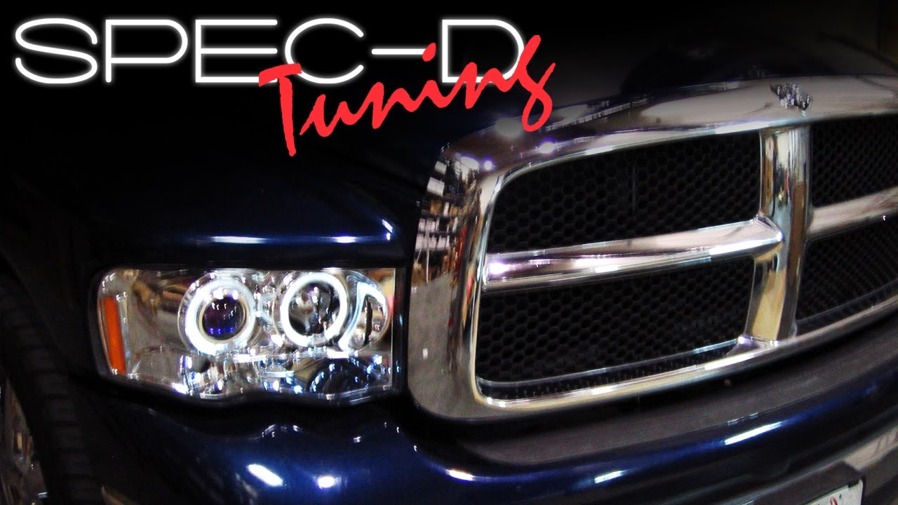Specdtuning Installation Video 2002 2005 Dodge Ram Head Lights Projector You