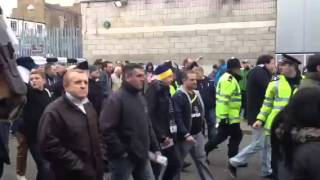 Gooners arriving at White Hart Lane