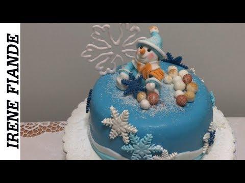 Как приготовить Самый красивый Новогодний торт со снеговиком.  Пошаговый рецепт
