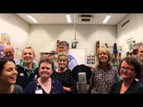 Kingshill Staff Do Band Aid 20!